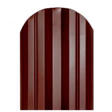 Штакетник  М-образный 124мм Полиэстер цвет коричневый 8017