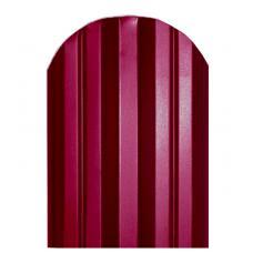 Штакетник  М-образный 124мм Полиэстер цвет вишня 3005