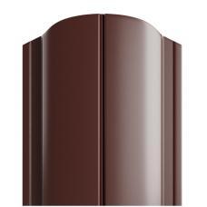 Штакетник полукруглый 122мм Полиэстер (одна сторона) цвет коричневый 8017
