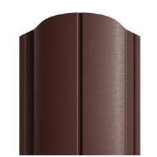 Штакетник DEEP MAT Полукруглый 122мм коричневый 8017
