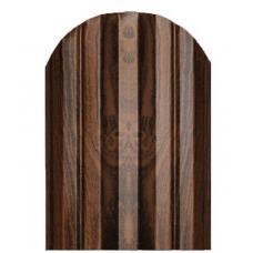 Штакетник М-образный 124мм Полиэстер цвет Орех