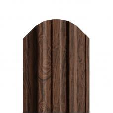 Штакетник П-образный 116мм Полиэстер (двусторонний) цвет орех