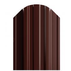 Штакетник П-образный 116мм Полиэстер (одна сторона) цвет коричневый 8017