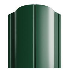 Штакетник полукруглый 122мм Полиэстер (одна сторона) цвет зеленый 6005
