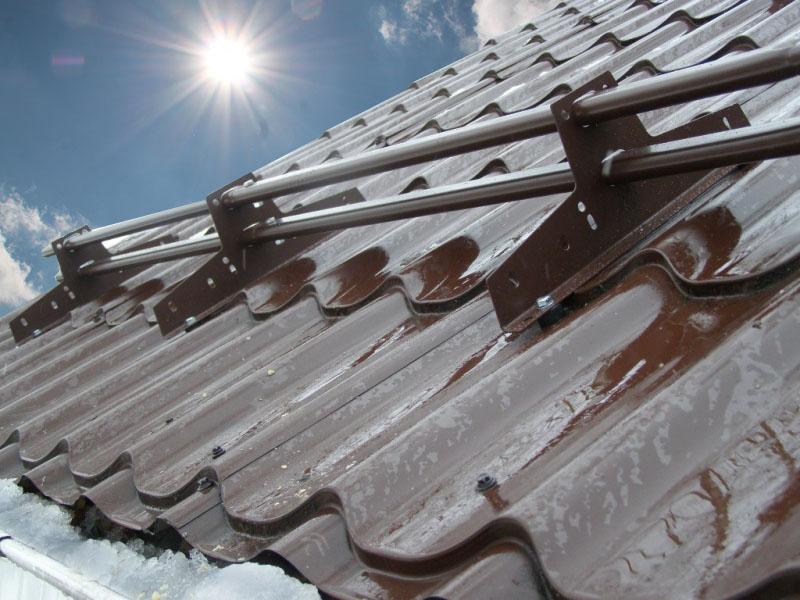снегозадержатели трубчатые для кровли из металлочерепицы